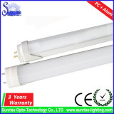 tubo dell'indicatore luminoso fluorescente del coperchio LED T8 della radura di 2FT 9W Aluninum