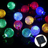 boule de cristal Solar Globe Fairy Lights de 20LED Colorful