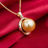 鎖が付いている女性のローズの金の自然な真珠の吊り下げ式のネックレス