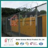 Galvanisierter geschweißter Antihohe Sicherheit Airpot Gefängnis-Sicherheitszaun des aufstiegs-Zaun-Panel/358
