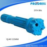 Bits de DHD360-165mm DTH para a perfuração boa