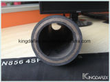 Mangueira hidráulica reforçada SAE100 R15 do fio espiral de alta pressão