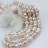 collar de agua dulce de la perla de la suposición mezclada del color de la dimensión de una variable del cacahuete de 10m m