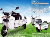 電気スクーターの電気三輪車、電気三輪の3車輪のスクーター