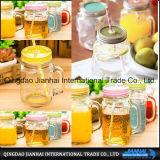 Transparentes Frucht-Getränkeglasflasche und Maurer-Glas