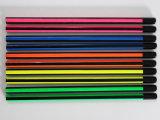 Crayons de qualité avec le corps de 4 couleurs assorti, crayons en bois