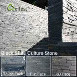Folheado de pedra natural do painel natural da pedra da parede da ardósia para o revestimento parede interior/exterior