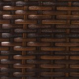Goed het Duurzame Frame van het Staal Furnir met de Bruine Barkrukken van de Hars van de Afwerking Rieten Ruglooze