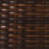 Goed beëindigt Furnir t-067 het Duurzame Bruine Frame van het Staal de Rieten Ruglooze Barkrukken van de Hars