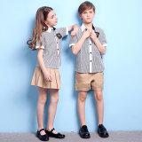 Camisa y pantalones cortos y diseño de la falda para el uniforme escolar primario