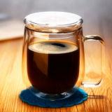 Caneca de café de vidro de borosilicato de alta temperatura