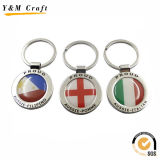 Stainless Steel Promotional Print Picture Keychain Ym1030
