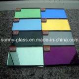 銀かアルミニウムによって着色されるガラスミラー
