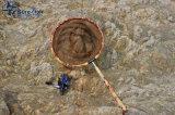 長いハンドルのコイのタケTenkara釣たも網