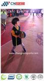 SI-UNITÉ CENTRALE terrain de basket extérieur, cour de sports de configuration en bois de texture