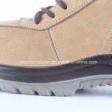 Cargador del programa inicial amarillo RS7058 del trabajo de los zapatos de cuero de Nubuck
