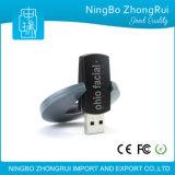 Movimentação feita sob encomenda plástica quente do flash do USB do logotipo com grande espaço para a cópia