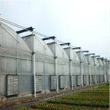 Serra della verdura della serra di Zigzagg della serra della pellicola connessa grondaia