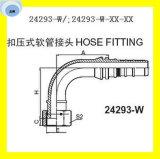 Embout de durites hydraulique de couplage joint plat femelle 24293-W d'Orfs de 90 degrés