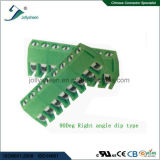 Hoogte 3.96mm van de EindBlokken van de Schroef van PCB 10p  10A hoek of Recht Type