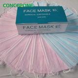 Máscara protetora cirúrgica estéril descartável