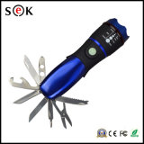 факел Forcus СИД наивысшей мощности 3W с инструментами, электрофонарем Zoomable электрофонаря ножа СИД для аварийной ситуации и работой