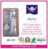 Etiqueta de plástico de plata de la junta del silicón de RTV (ID-128)