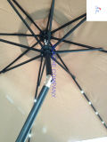 Solar LED Umbrellaの2.7m 9ft Round LED Umbrellaの庭のUmbrellaのテラスUmbrella Outdoor Umbrella