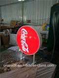Het ronde CirkelFrame van het Aluminium met Vakje van het Teken van de Vertoning van de Advertenties leiden van de Voeten van het Metaal het Vacuüm Plastic Lichte