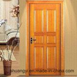 Feito na porta de madeira interior de China