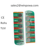 Batería de litio del sistema de alarma del coche de la célula del botón Cr2032