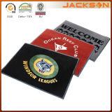Tapis de porte de logo de bienvenue de coutume de compagnie fabriqué en Chine