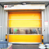 La tela de alta velocidad del PVC industrial limpia la puerta del obturador del rodillo