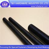 Qualité DIN975 Rod fileté noir