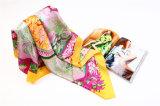 2014 100% напечатанное Silk Scarf Wool Scarf 90 90