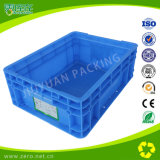 Caixa plástica cinzenta da modificação do molde para a embalagem e o transporte