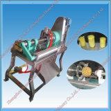 Máquina de casca do abacaxi do aço inoxidável e máquina de retirada do núcleo