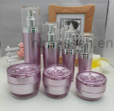 Jarro de creme de garrafa acrílica redondo violeta para embalagem de cosméticos (PPC-CPS-030)