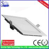 Ultra dünnes Quadrat vertiefte 18W LED Panel-Deckenleuchte