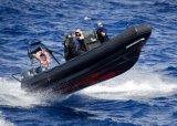 Bote patrulla de Aqualand/bote de salvamento inflables rígidos de la costilla (RIB750A)