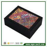 Rectángulo de papel de la joyería promocional del embalaje con cuero
