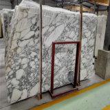 Tuiles Polished de marbre normal en gros de brame de la Chine, marbre blanc de l'Italie Arabescato
