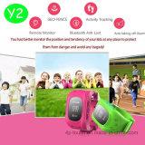 Kinder GPS-Verfolger-mobile Uhr mit GPS+Lbs verdoppeln Position (Y2)
