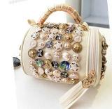 Bolsa de couro das senhoras do plutônio da bolsa das raparigas com decoração do metal