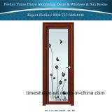 室内装飾のための花デザインのアルミニウム開き窓の浴室のドア