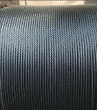 Corda de fio de aço galvanizada 6X19 dos aviões
