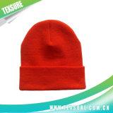 Sombrero hecho punto gorrita tejida unisex reversible abofeteado acrílico del 100% (043)