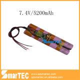 Kundenspezifisches Li-Ion Battery Pack 7.4V 5.2ah für Flashlight From Professional Manufacturer