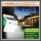 Luz solar do sensor de movimento com o diodo emissor de luz de 2 ESPIGAS, luminoso (SH-2604)