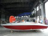 barcos da velocidade de 6.3m com os motores externos gêmeos